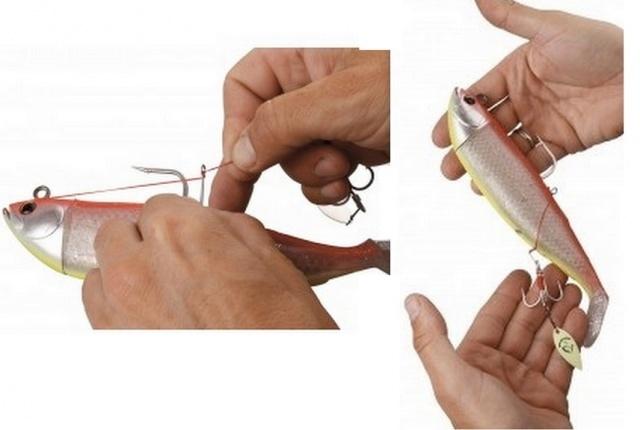 оснащение крупных силиконовых приманок